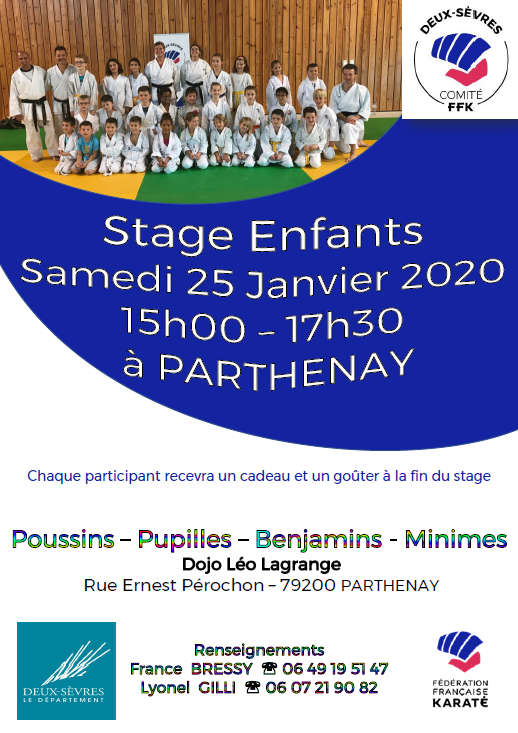Stage Enfants à Parthenay